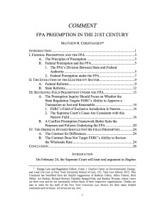 FPA Preemption