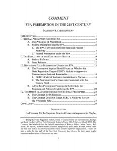 FPA Preemption